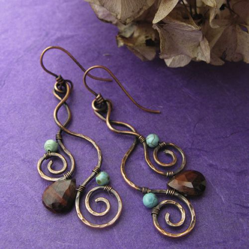 Nice, funny thing is; had I the time, I could be doing earrings similar to these, as I LOVE, LOVE antique copper, gemstones, and briolettes!