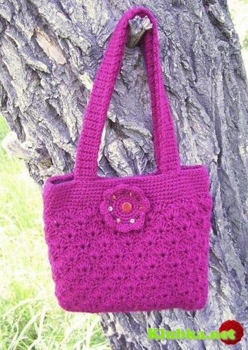 Purple bag crochet, step by step images!