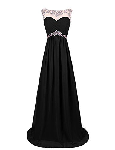 Dresstells Long Chiffon Prom Dress with Beading Wedding Dress Maxi Dress Evening Party Wear Black Size 6 Dresstells http://www.amazon.co.uk/dp/B00OHGF5E4/ref=cm_sw_r_pi_dp_2n6ivb0EDP15J