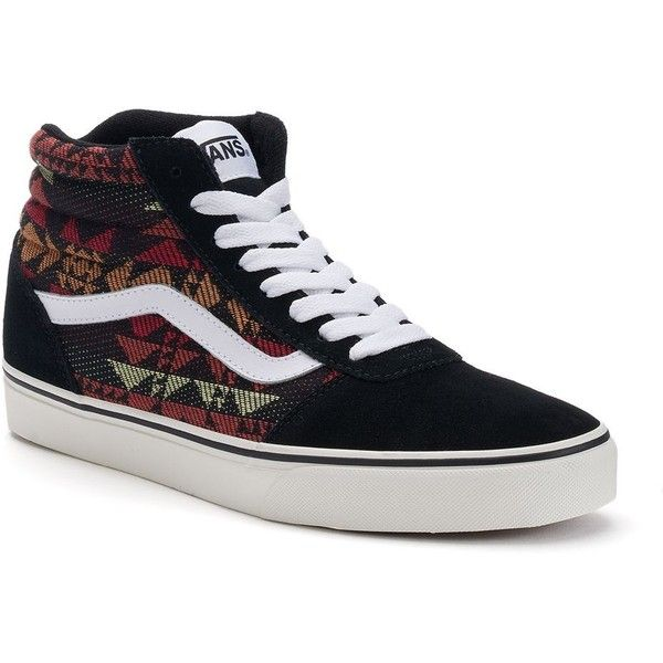 Vans Ward Hi Men\u0027s Tribal Skate Shoes ($65) ? liked on Polyvore featuring  men\u0027s