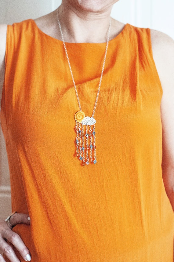 Pure Silver Necklace  Sun Drops by SiBijoux on Etsy, €180.00