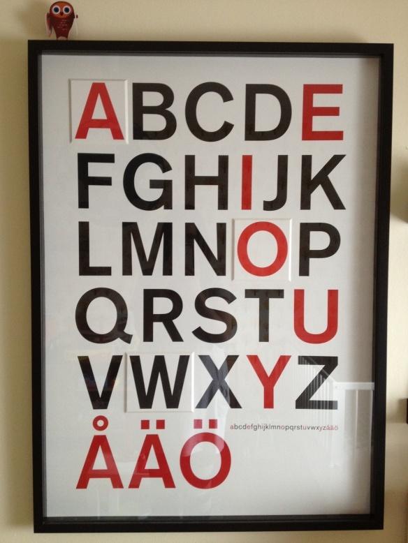 Alfabetet från IKEA.