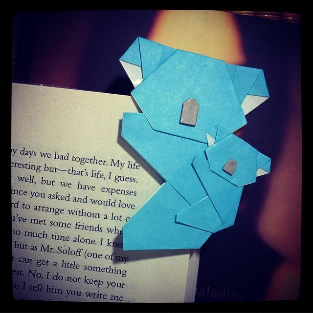 origami koala (and cub!) bookmark (^_^)