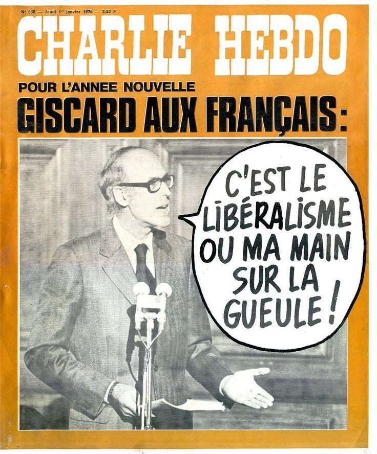Charlie Hebdo - # 268 - 1er Janvier 1976 - Couverture : Collectif et Photo de Giscard