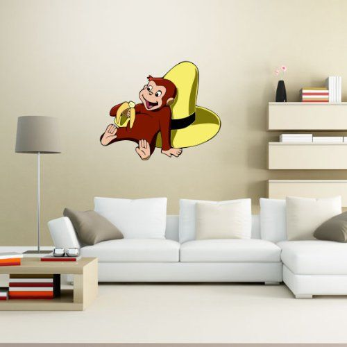 Curious George Banana Wall Graphic Decal Sticker 25 Part 59