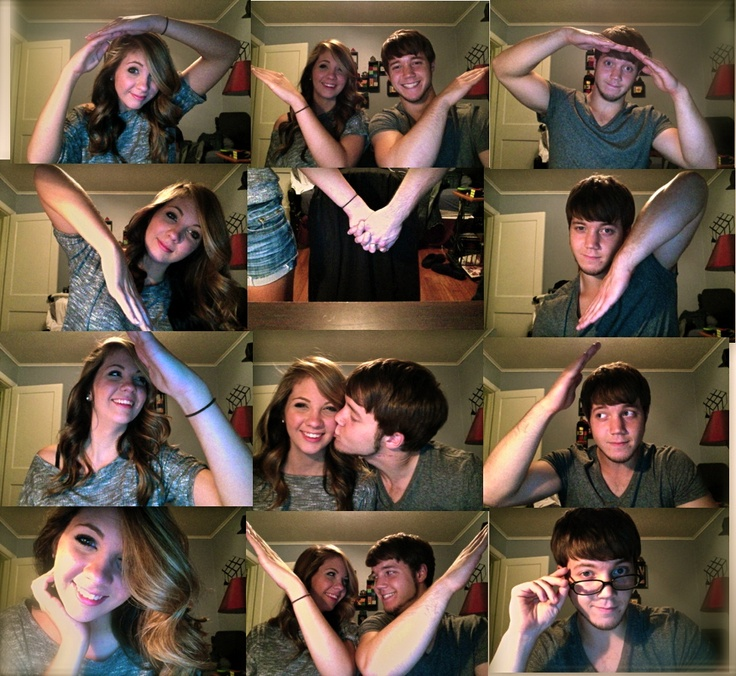 Cute webcam heart picture collage for Anniversary!!