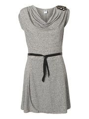 GOURY S/L SHORT DRESS, Light Grey Melange, list