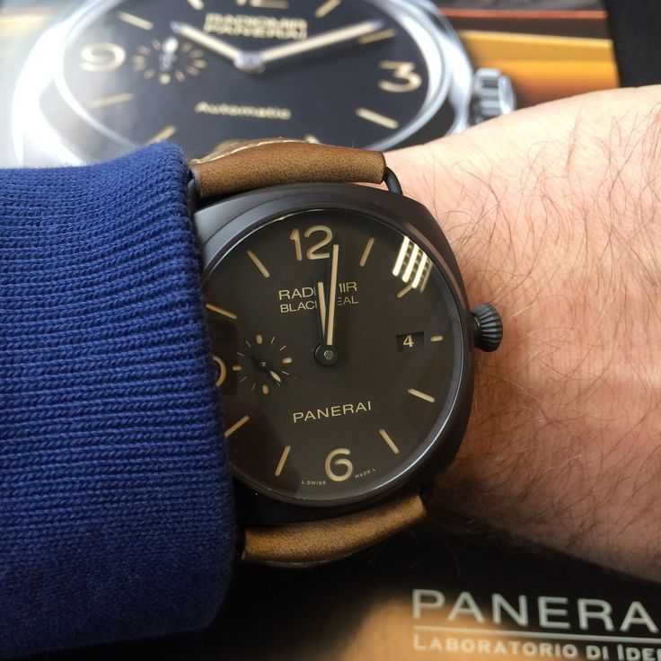 Love this preowned black seal Panerai Radiomir  Nearly new, grab a bargain!