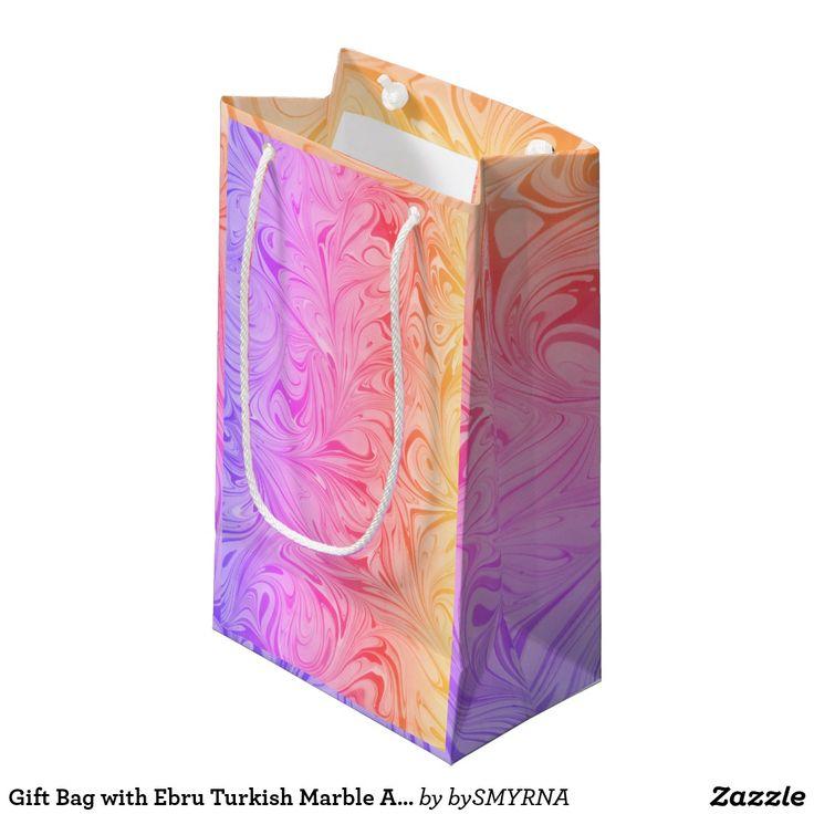Gift Bag with Ebru Turkish Marble Art, D#1-Ipanema