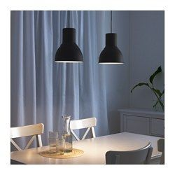 IKEA - HEKTAR, Pendant lamp, dark gray, , This lamp gives a pleasant atmosphere for dining, spreading direct light across your dining or bar table.