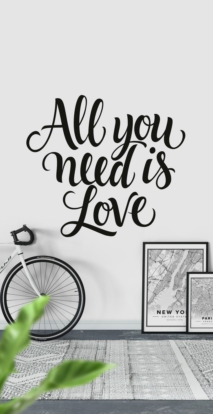 All you need is love Wall Mural - Wallpaper