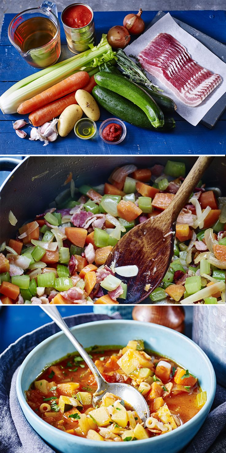 Easy minestrone soup packs loads of veggies into your dinner. Make ahead and eat all week! Click-through for Tom Kerridge's video how-to.