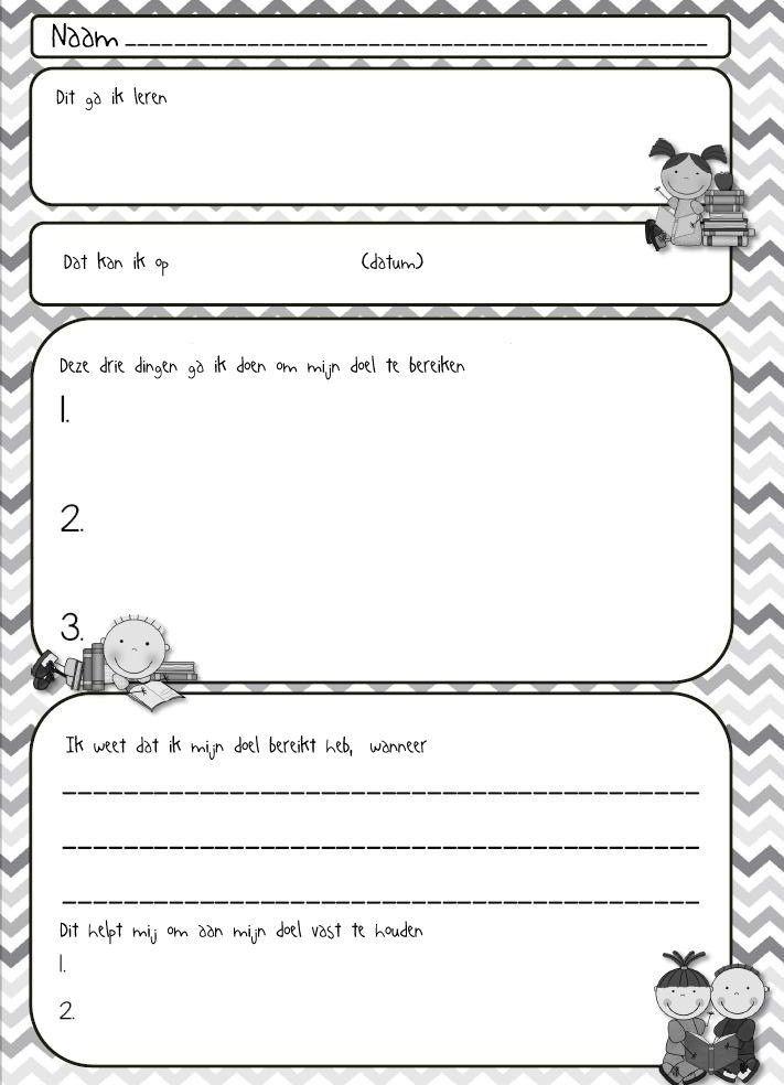 Maak kinderen zelf (mede)verantwoordelijk voor hun leerproces. Wat wil je de komende tijd leren, en hoe ga je dat aanpakken?: