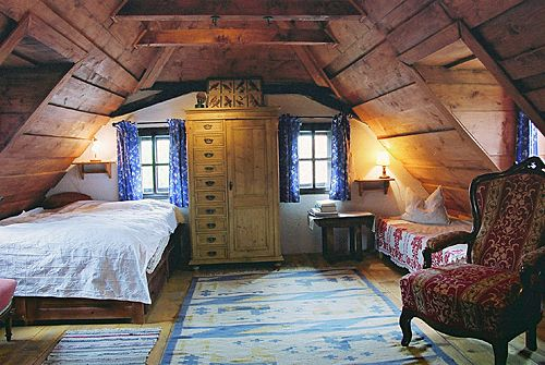 lovely Eastern European interior in a house in the Transylvanian mountains
