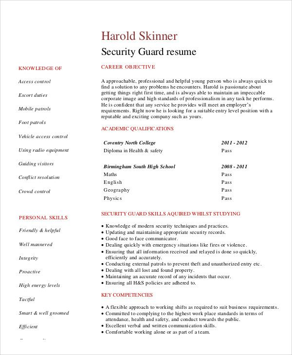 Template Net Security Guard Resumes 10 Free Word Pdf Format Download Free 385c219c Resumesample Resumefor Security Resume Resume Good Resume Examples