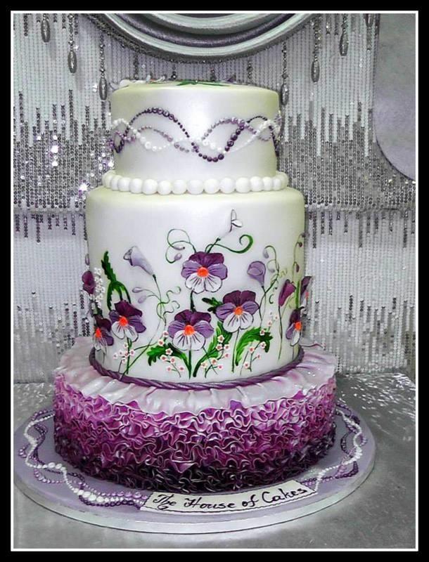 Cake with pansies - Cake by House of Cakes Dubai   CakesDecor.com