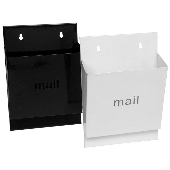 Wall Mounted Metal Mail Letter Rack White Or Black