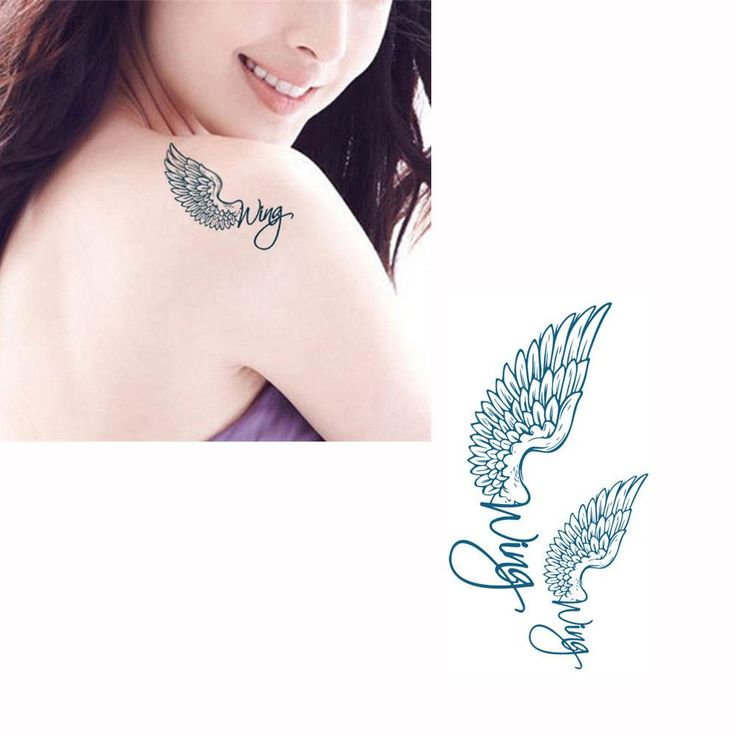Body Art Temporary Tattoos Tattoo Sticker Wings Pattern Waterproof Temporary Tattooing