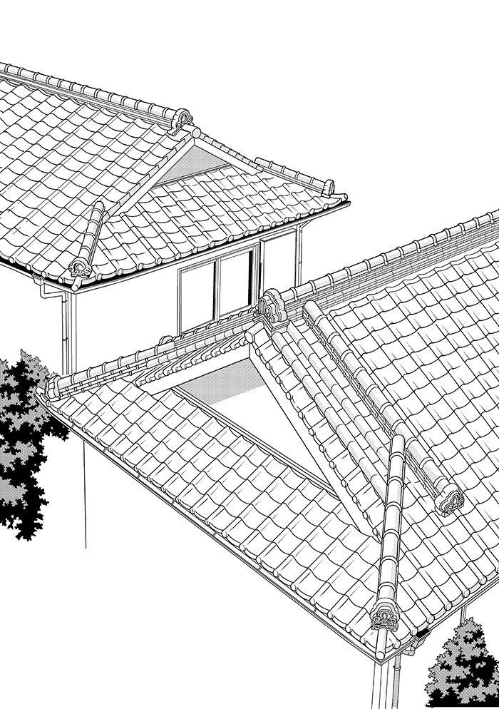 超級 背景講座 Maedaxの背景萌え 瓦屋根屋編 瓦屋根
