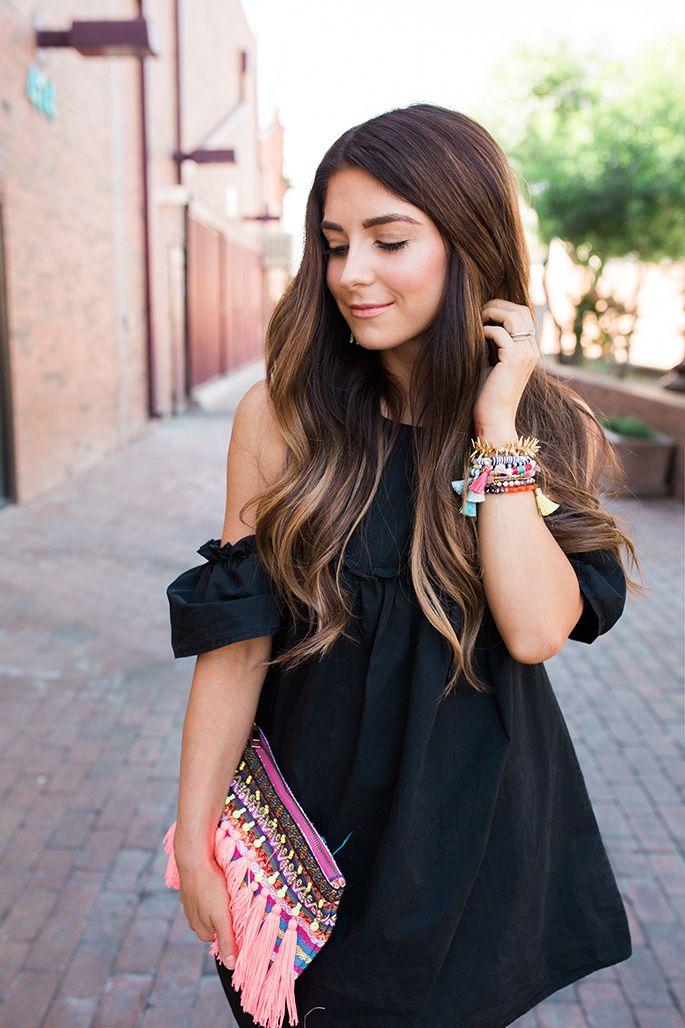 J Petite: Black Cold Shoulder Dress