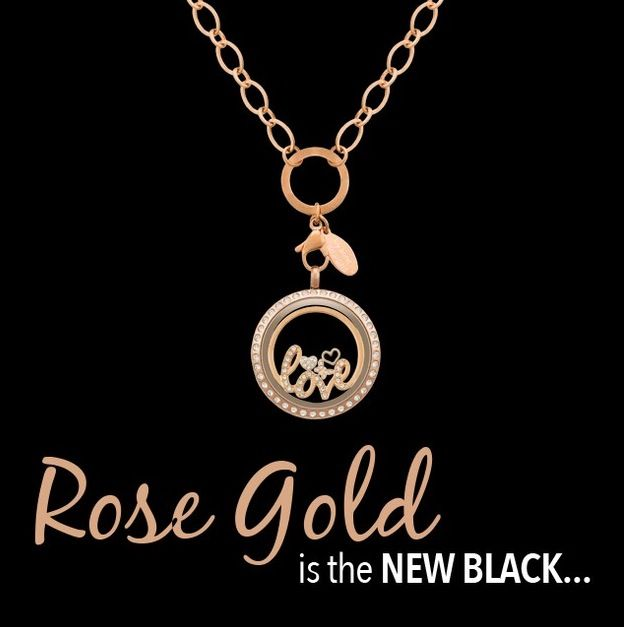 New ROSE GOLD lockets, charms & chains and WINDOW PLATES!! www.1559635.lilyannedesigns.com