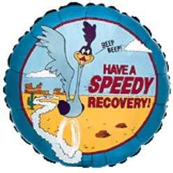 get well soon messages after surgery   Have A Speedy Recovery (Roadrunner)