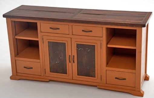 Recycled Wood Sideboard Painted