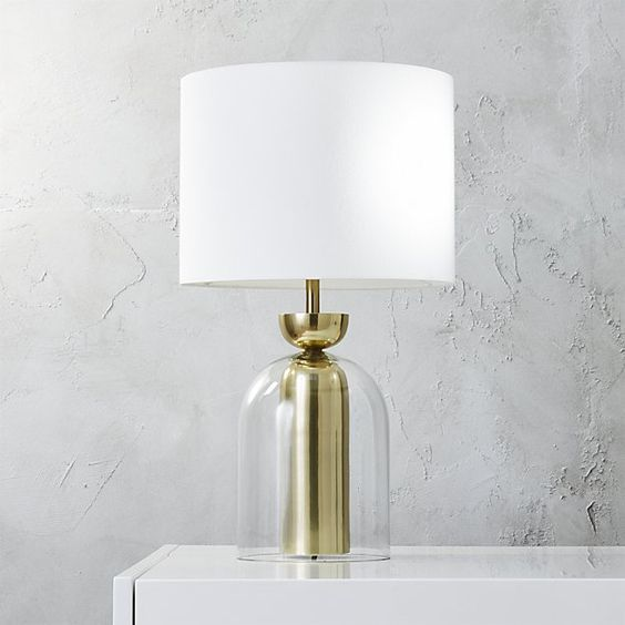 Bell Jar Table Lamp In 2019 Table Lamp Floor Lamp Arc