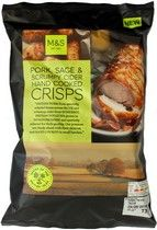 Marks and Spencer Pork Sage and Scrumpy Cider Hand Cooked Crisps 150g