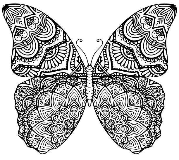 Schmetterling Mandala Schneiden Datei Svg Eps Dxf Jeep Datei Dxf Eps Jeep Mandala Mandala Malvorlagen Ausmalbilder Mandala Ideen Furs Zeichnen
