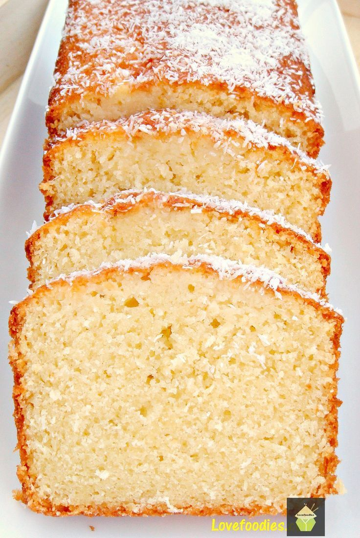 Moist Coconut Pound Loaf Cake. Light, soft, and oh sooooo delicious! #coconut #loaf #pound #cake