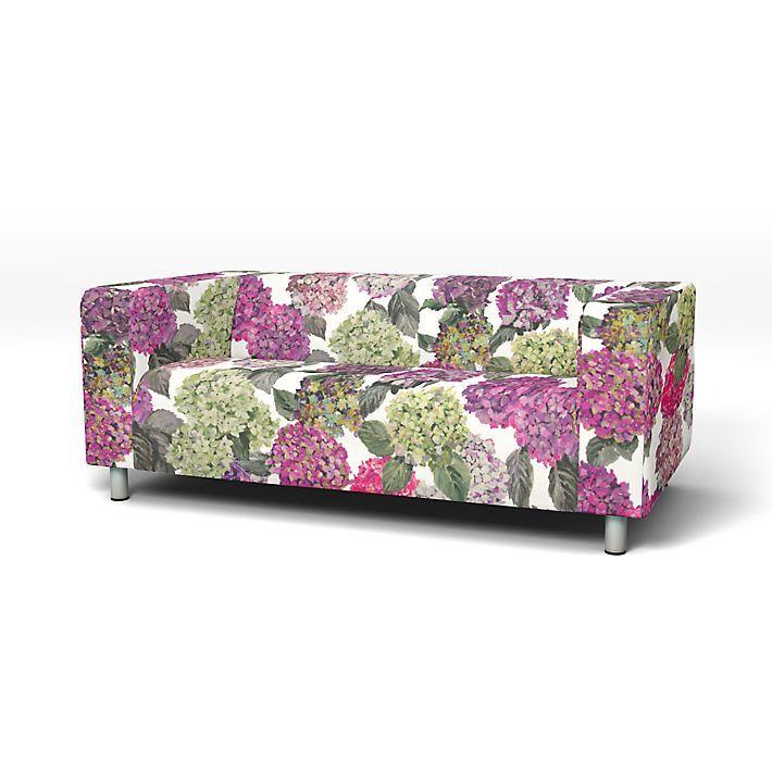 Klippan, Sofa Covers, 2 Seater, Regular Fit using the fabric Sudara Magenta