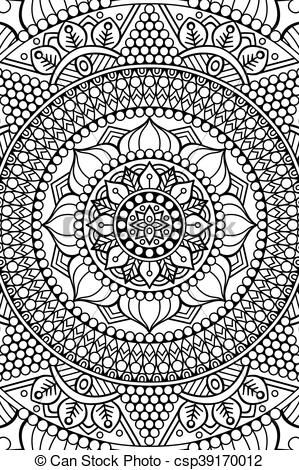 Vector - Vector indian Mandala background - stock illustration, royalty free illustrations, stock clip art icon, stock clipart icons, logo, line art, EPS picture, pictures, graphic, graphics, drawing, drawings, vector image, artwork, EPS vector art