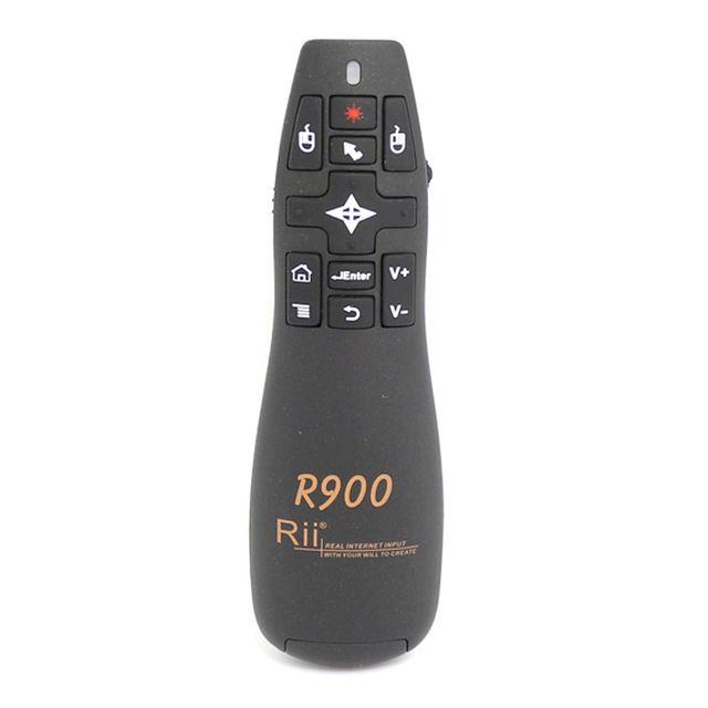 Rii R900 2.4G Wireless Airmouse Láser Puntero Powerpoint Presenter para Android TV Caja PC