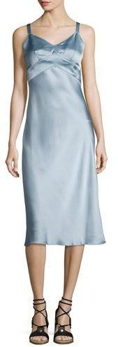 Rag & Bone Kaplan Satin Slip Dress, Light Gray