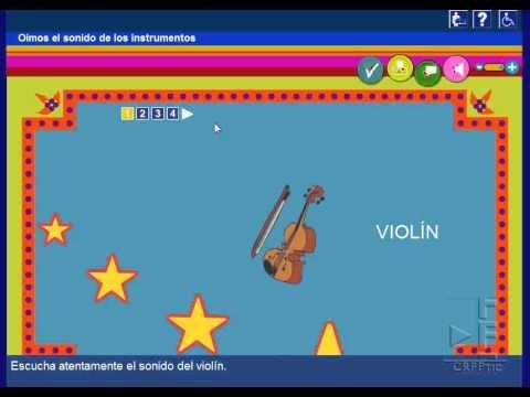 Instrumentos Musicales: Recurso on-line con el que podrás conocer diferentes instrumentos musicales y distinguir sus sonidos
