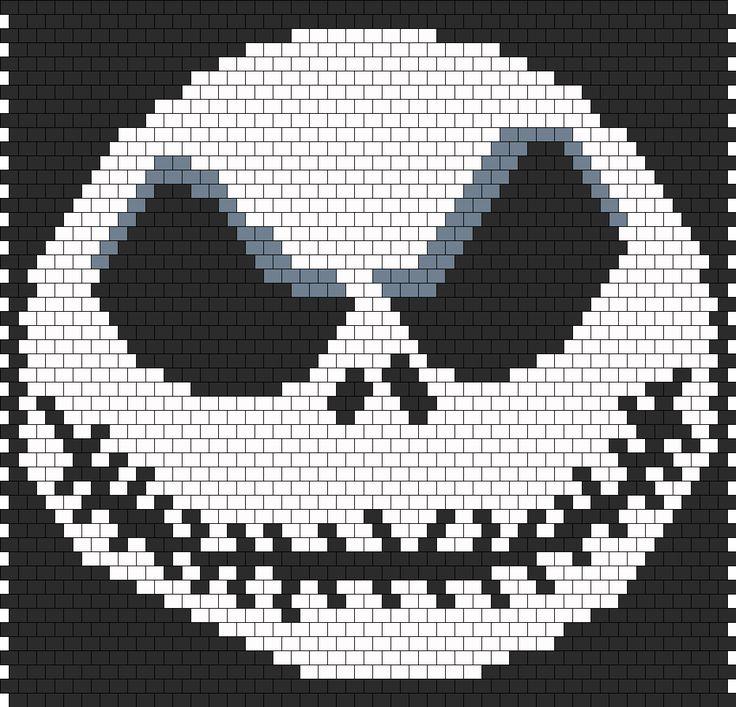 Jack Skellington The Nightmare Before Christmas Bead Pattern | Peyote Bead Patterns | Characters Bead Patterns
