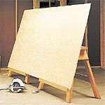 add L shape bracket so that you can cut plywood without stretching