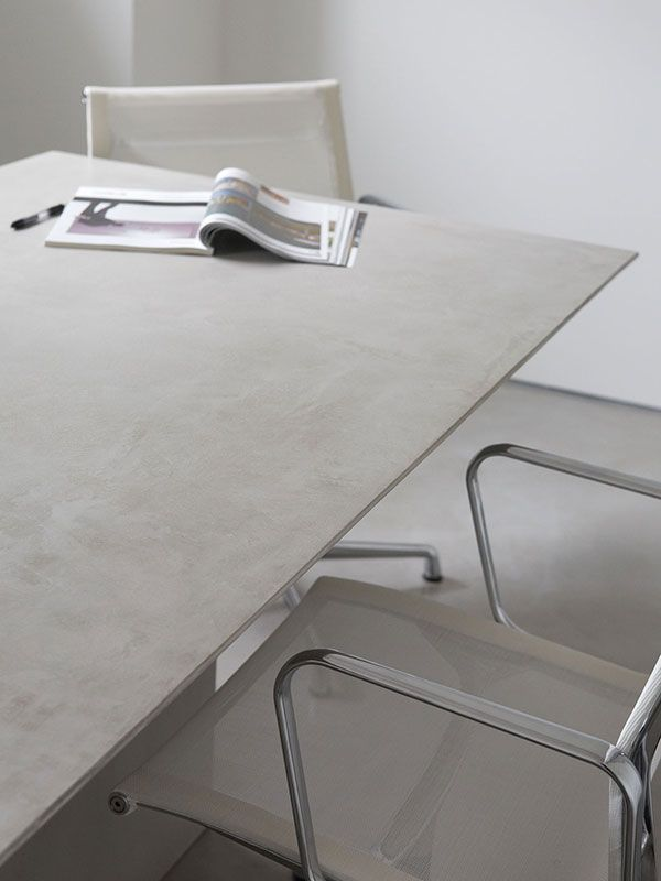 microtopping idealwork covering table cement effect