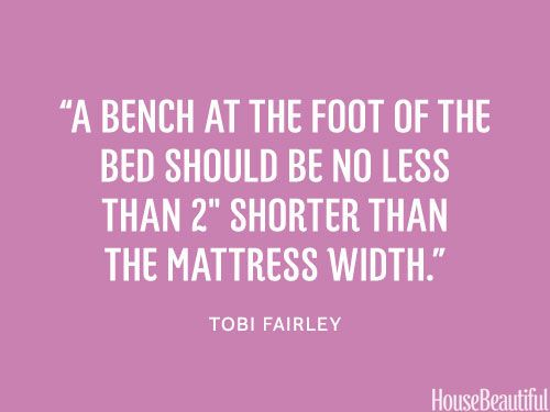 Best length for a bench. #designer_quotes #bench #decorating