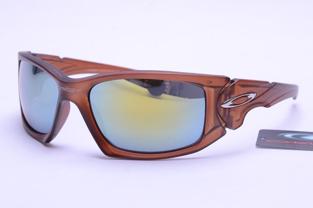 Oakley Active Sunglasses Deep Brown Frame Colorful Lens 0018