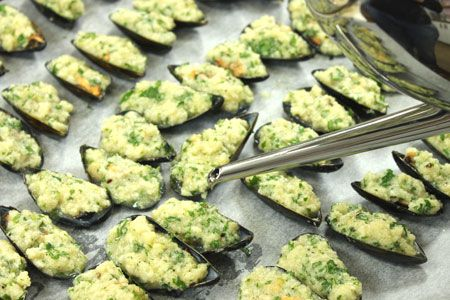 Gratin mussels.. so easy so good!