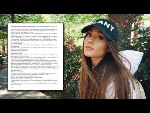 Ariana Grande Announces Manchester Benefit Concert & Shares Heartfelt Letter To Fans - YouTube