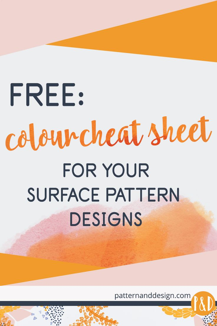 Learn how to create the 6 most common colour schemes using the colour wheel tool for your surface pattern designs + FREE Colour Cheat Sheet