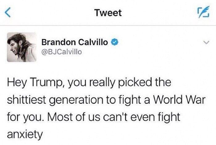 (1438.7 H Quote; United State of America; Brandon Calvillo (American; 1415.2.19 (United States of America, California) - ? H; Viner; Actor)) (Twitter, BJCalvillo) #USA