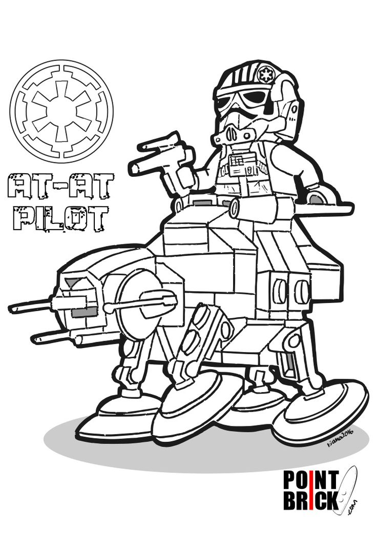 Coloring Pages / Disegni da Colorare LEGO Star Wars Microfighter - AT-AT Walker
