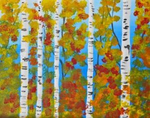 We're painting this on September 18th. Create your own fall masterpiece with these Birch Beauties!