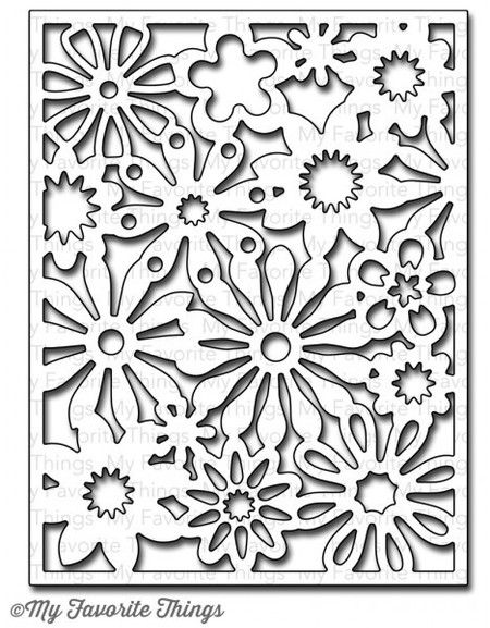 Die-namics Floral Fusion Background Cover-Up Die