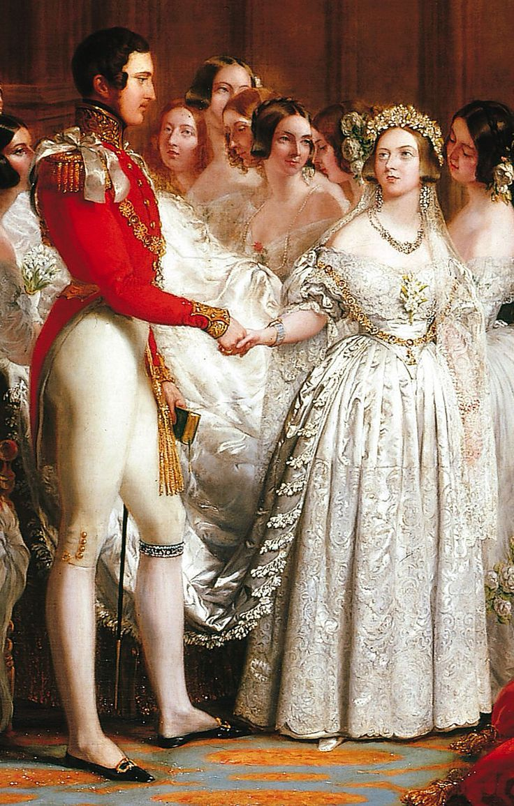 Painting of the wedding of H.M. Queen Victoria and H.R.H. Prince Albert, 1840.