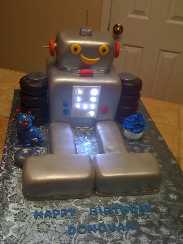 45 Best Robot Cake Images On Pinterest Robot Cake
